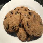 cookies receita com gostas de chocolate