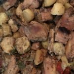 Coxa e Sobrecoxa assada com batata doce